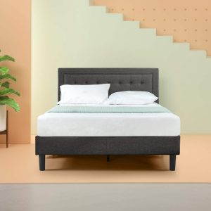 Zinus Dachelle upholstered button tufted bed