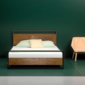 Zinus Suzanne metal and wood bed