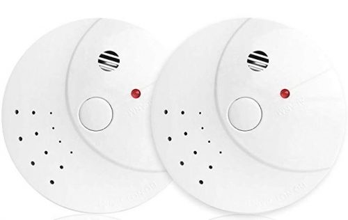 2 pack photoelectric smoke and fire alarm by Vitowell