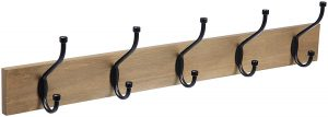 AmazonBasics Wall-mounted coat rack, barn wood