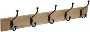 AmazonBasics Wall-mounted coat rack, barn wood