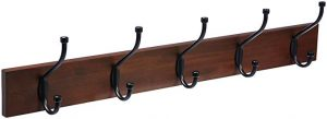 AmazonBasics wall-mounted coat rack, light walnut