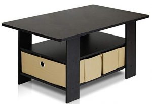 Rectangle coffee table with hidden storage