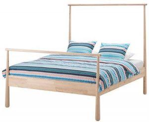 IKEA Bed Frame, birch, Luroy, queen size