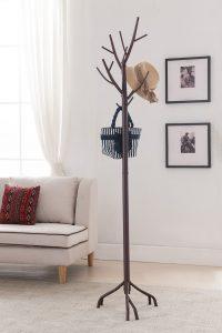 Kings Brands Bronze Metal Hall Tree Coat & Hat Rack