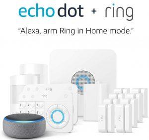 Ring Alarm 14 pieces kit+ echo dot