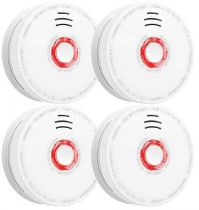 Smoke detector and fire alarm by SITERWELL, 4 pack