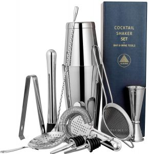 11-pieces cocktail shaker bar set by ALOONO