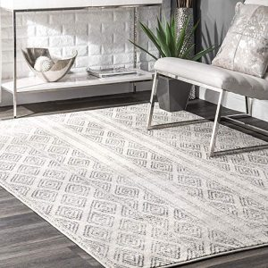 3895 Gray swirls 5'2×7'2 modern abstract area rug carpet by Persian-Rugs