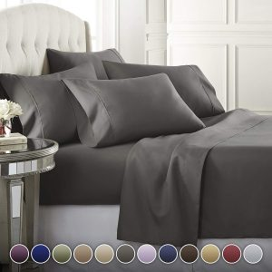 6 pieces Hotel Luxury soft bed sheet set by Danjor Linens