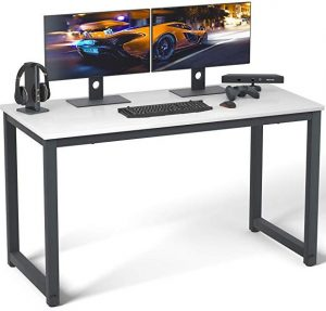 "Computer desk 55"" modern study office desk by Coleshome"