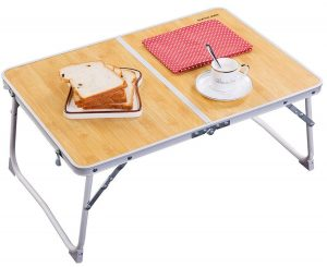 Foldable laptop table, mini picnic table by Superjare