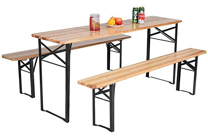 "Giantex 70"" portable picnic beer table"