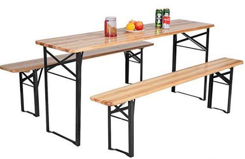 "Giantex 70"" portable picnic beer table"