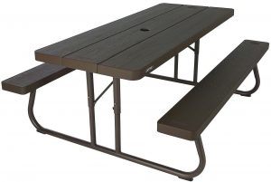 Lifetime 6 folding picnic table- brown