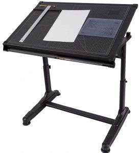 Stand Up Desk Store height adjustable drawing and drafting table, black