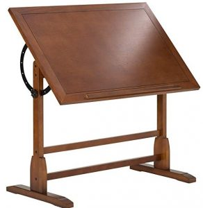 Studio Designs vintage rustic Oak drafting table
