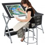 Super Deal adjustable drafting table