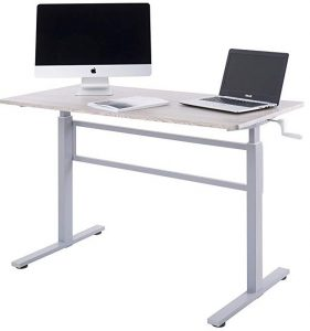 UNICOO- Crank adjustable height standing desk
