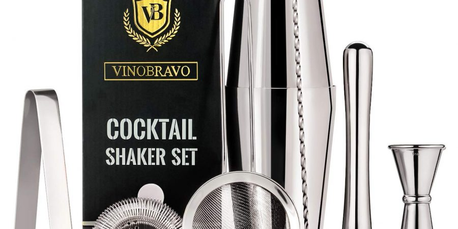 Vinobravo 11-piece Boston cocktail drink shaker set