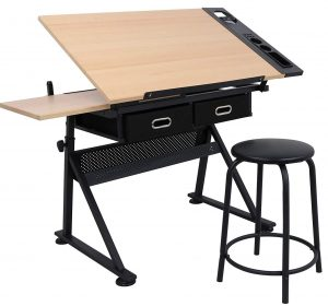 ZENY Height adjustable drafting desk