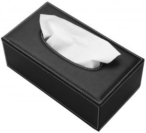 KINGFORM Rectangular PU leather napkin holder