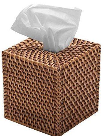 KOUBOO 1030017 square Rattan tissue box cover
