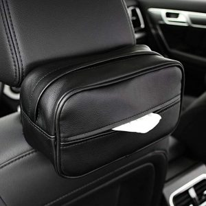 Keep Top luxury leather car sun visor tissue case holder