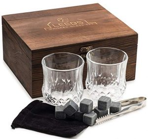 LEEBS Premium whiskey stones gift set