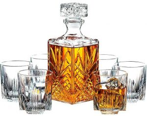 Paksh Novelty 7-piece Italian crafted glass set