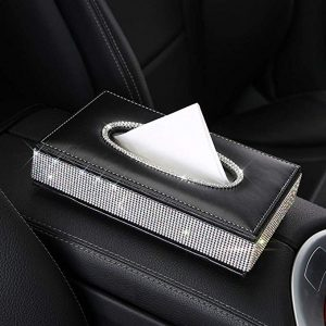 U&M PU leather tissue box holder