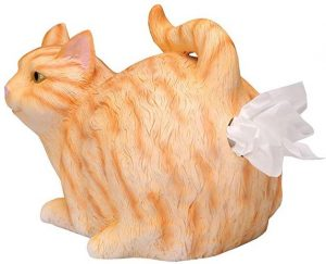 WHAT ON EARTH cat butt tissue holder, orange color
