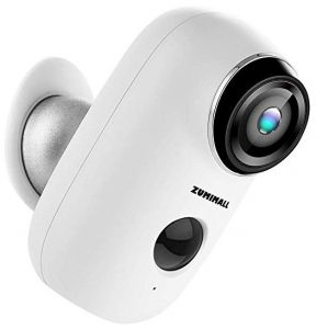 Wireless rechargeable battery-powered camera by ZUMIMALL