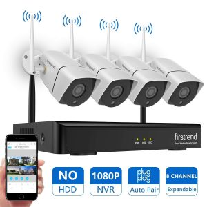 Wireless security camera system by Firsttrend, 4 pcs