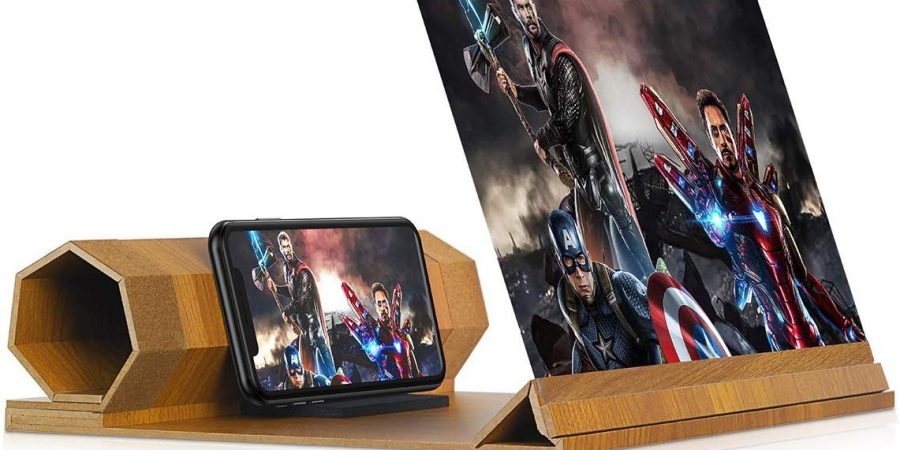 12'' Screen Magnifier for Smartphone – Mobile Phone 3D Magnifier Projector Screen for Movies, Videos, and Gaming