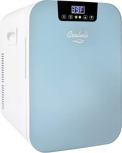 Cooluli Concord 20-liter Compact Cooler/Warmer Mini Fridge/Wine Cooler with Digital Thermostat + Dual-Core Cooling for Cars