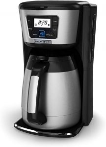 12-cup Thermal Electric Coffee Maker for Office and Home