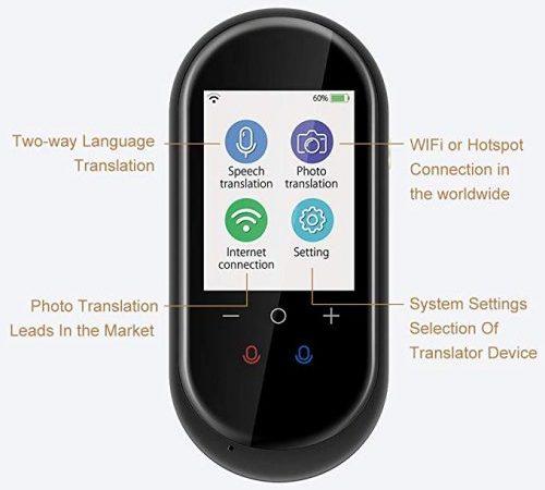 The upgrade Birgus language translator supports up to 106 languages, 8 offline languages and photo translation.