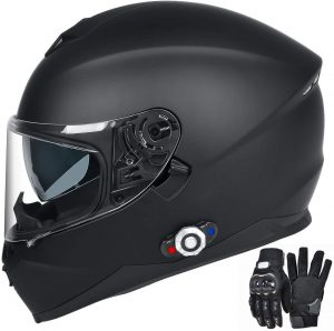 Bluetooth Integrated Motorcycle Helmet, FreedConn DOT Full Face BM12 Communication System