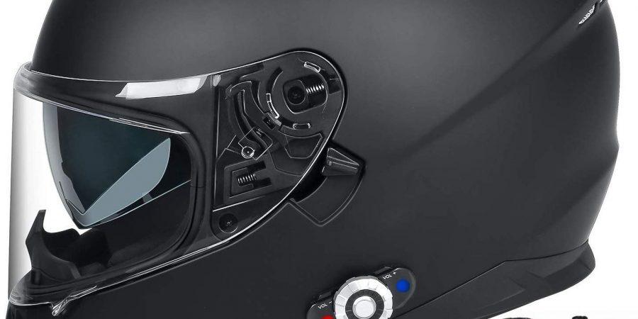 Bluetooth Integrated Motorcycle Helmet, FreedConn DOT Full Face BM12 Communication System