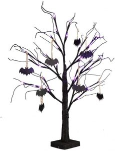Black tree for home decoration during Christmas and Halloween