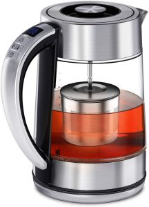 Electric Tea Kettle, FEBOTE 2 in 1