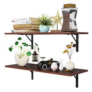 Homfa floating shelves wall-mounted