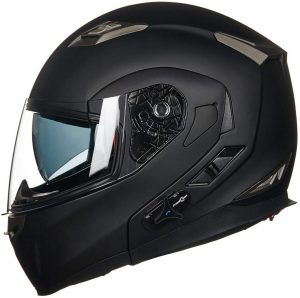 ILM Bluetooth Integrated Modular Flip up Full Face Motorcycle Helmet Sun Shield Mp3 Intercom large Size L