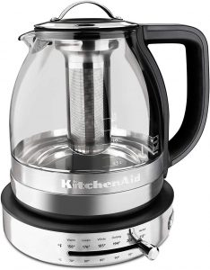 KitchenAid KEK1322SS Electric Glass Tea Kettle
