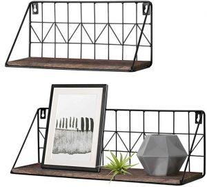 Mkono 2 set floating shelves wall-mounted