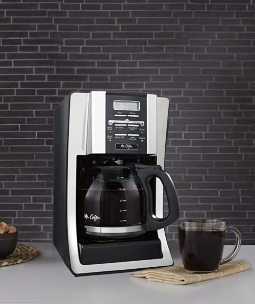 Programmable Electric Coffee Maker for 12 Cups of Coffee
