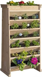 Wooden Vertical Garden Planter for growing vegetable, flower and more