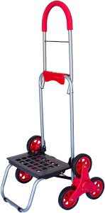 dbest products Stair Climber Mighty Max Persona Dolly, Red Handtruck Hardware Garden Utility Cart