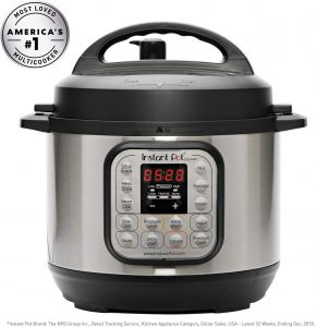 Instant Pot DUO Mini Electric Pressure Cooker, 3-QT, Stainless Steel/Black